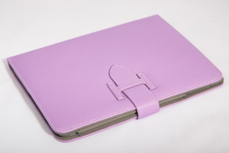 Кожаный чехол-книжка для iPad 2/3/4 (сиреневый) Ipad74