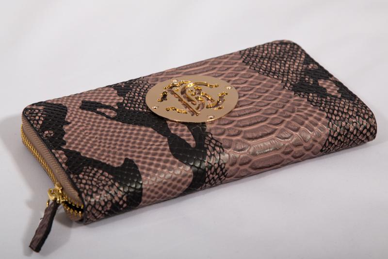 Кошелек женский из натуральной кожи под крокодила арт. W012