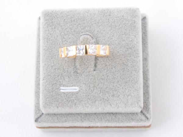 Кольцо со вставками из кристаллов Сваровски арт. B106