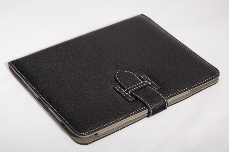 Кожаный чехол-книжка для iPad 2/3/4 (черный) Ipad70